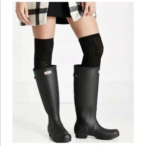HUNTER Original Tall Matte Black Rain Boots 6